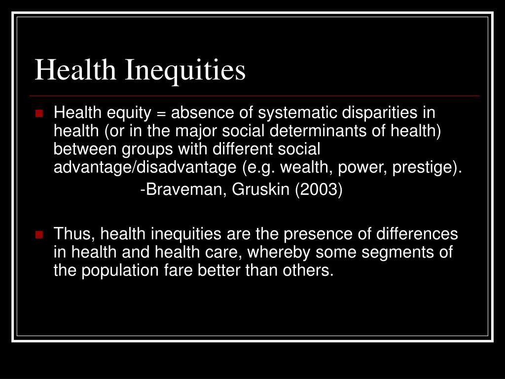 Health Inequities