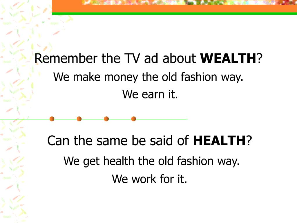 Remember the TV ad about