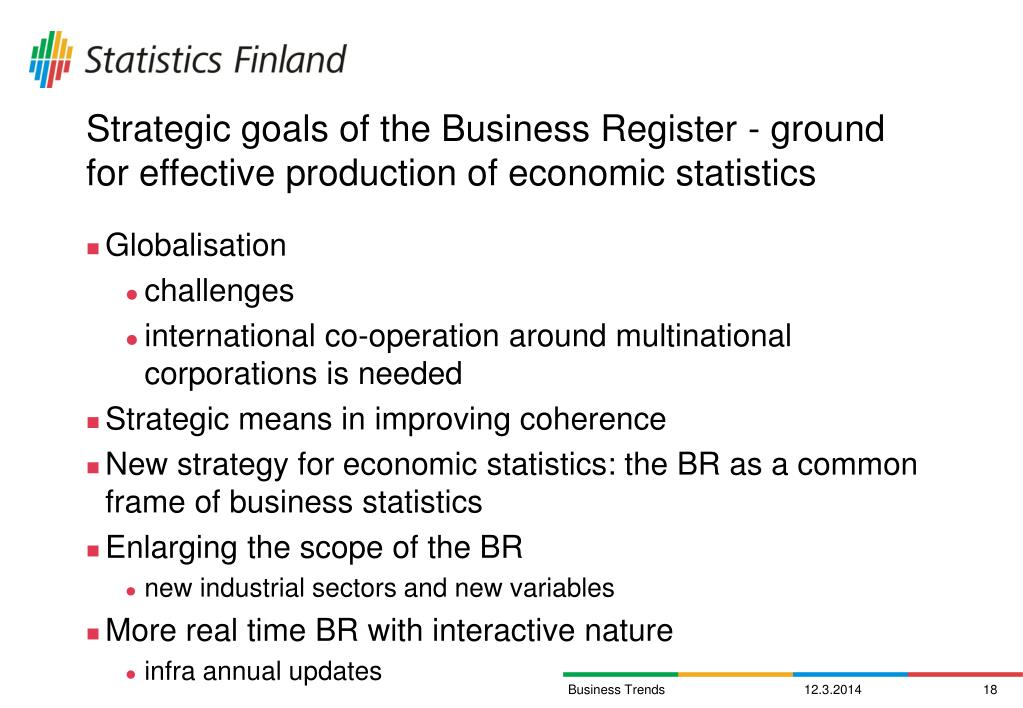 Strategic goals of the Business Register - ground for effective production of economic statistics