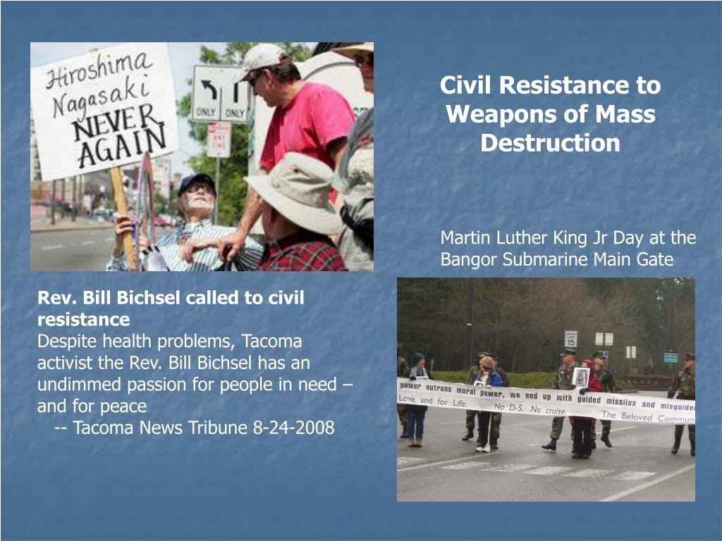 Civil Resistance to Weapons of Mass Destruction