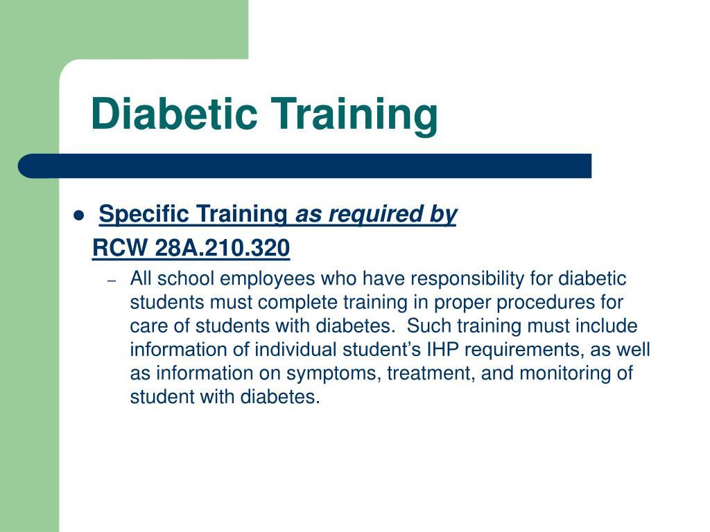 Diabetic Training
