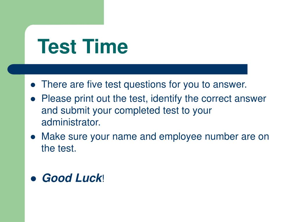 Test Time