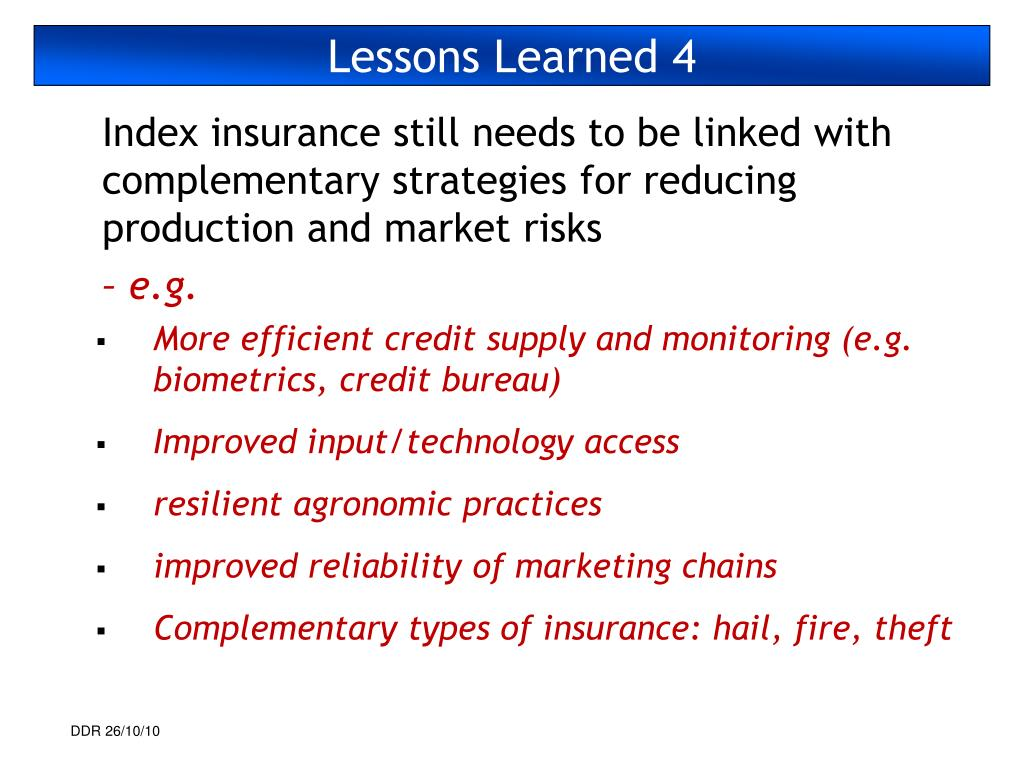 Lessons Learned 4