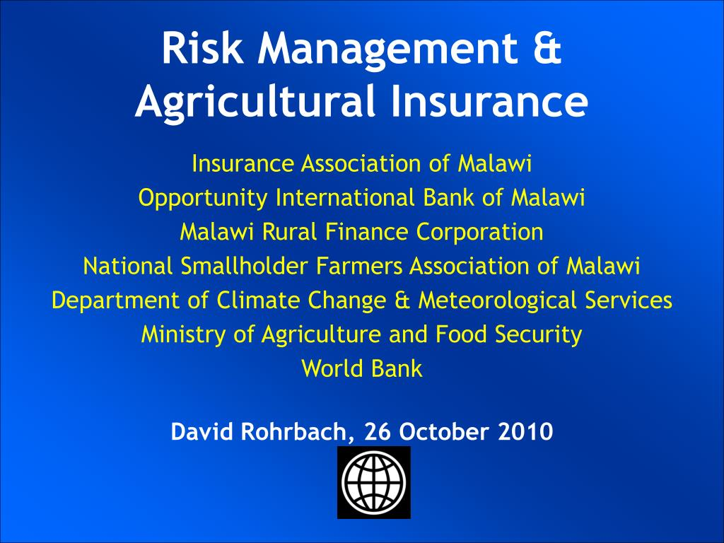 UKRAINIAN AGRICULTURAL WEATHER RISK MANAGEMENT