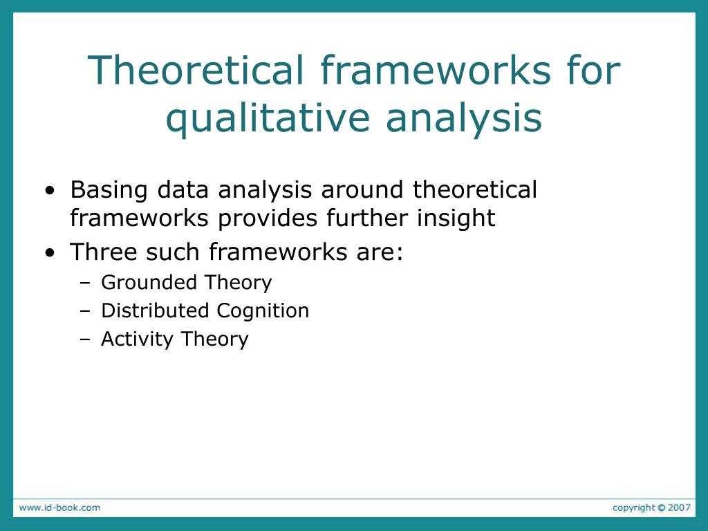 Theoretical frameworks for qualitative analysis