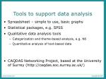 tools to support data analysis