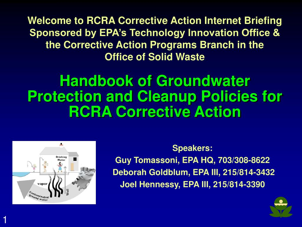 Welcome to RCRA Corrective Action Internet Briefing