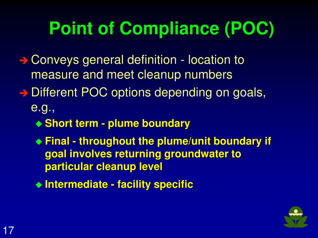 Point of Compliance (POC)