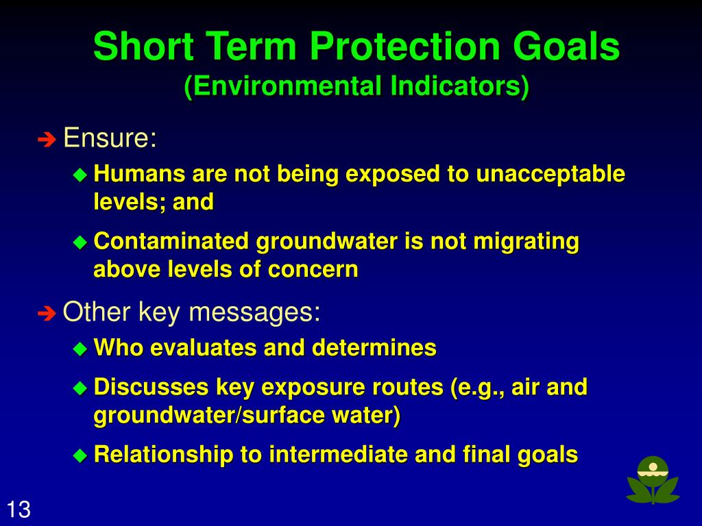 Short Term Protection Goals