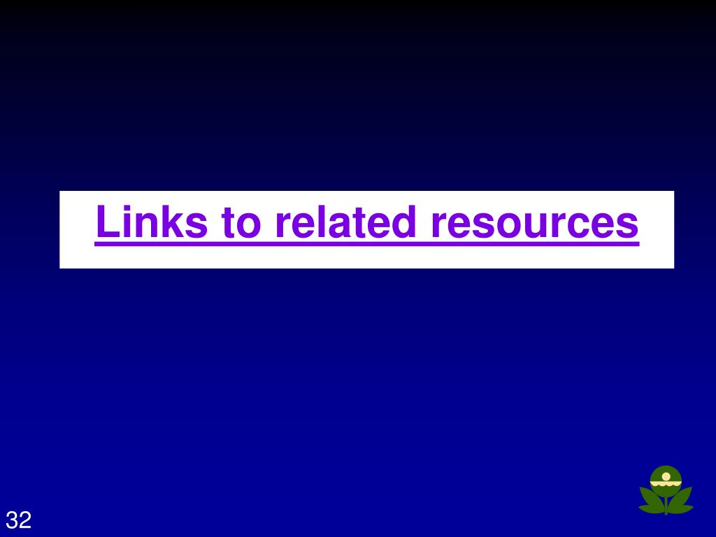 Links to related resources