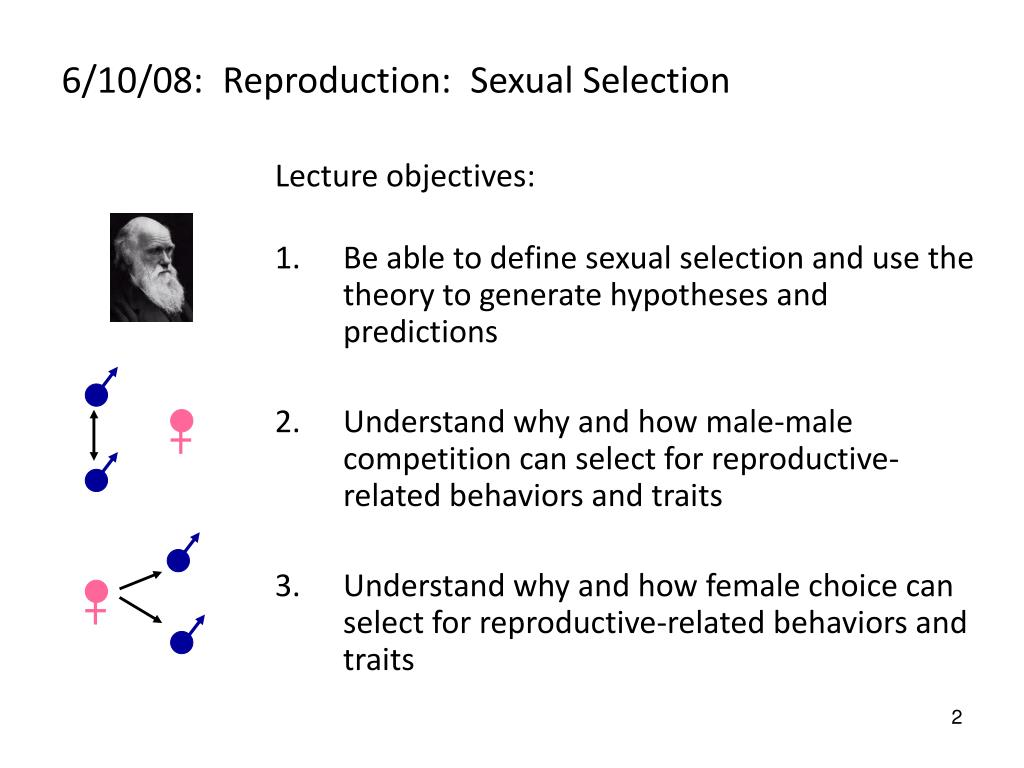 6/10/08:  Reproduction:  Sexual Selection
