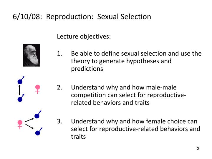 6 10 08 reproduction sexual selection