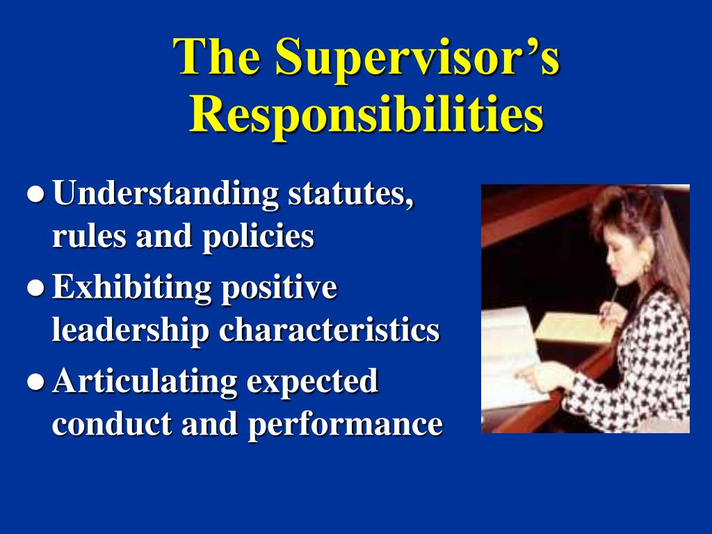 how to be a good supervisor manual