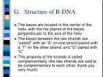 g structure of b dna17