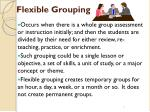 flexible grouping7