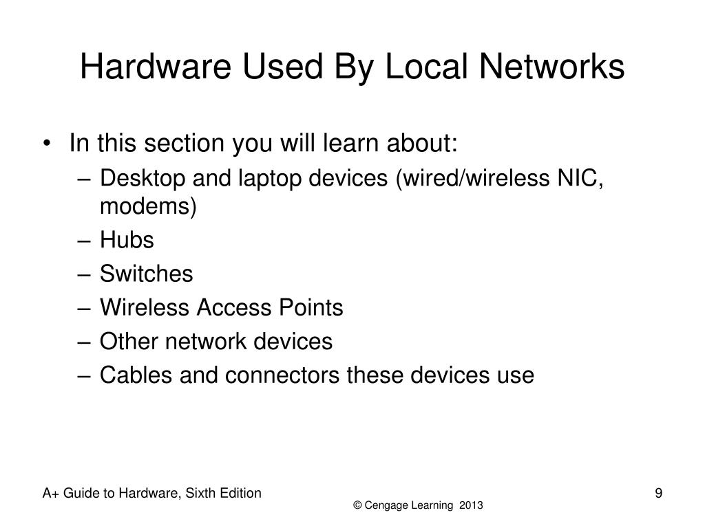 Hardware Used By Local Networks