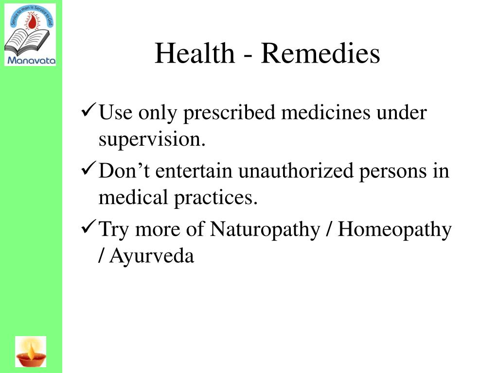 Health - Remedies