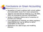 conclusions on green accounting