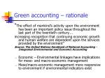 green accounting rationale