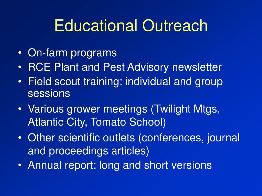 Educational Outreach