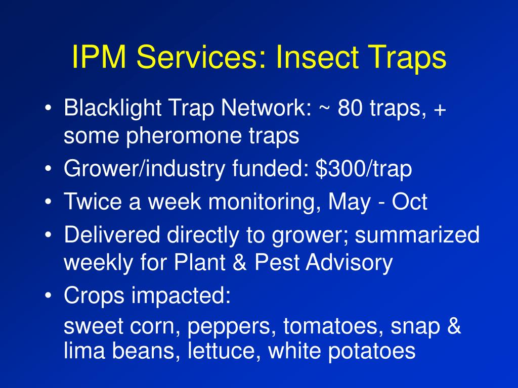 IPM Services: Insect Traps