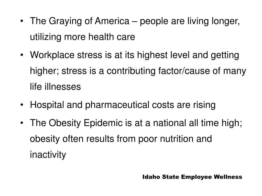 The Graying of America – people are living longer, utilizing more health care