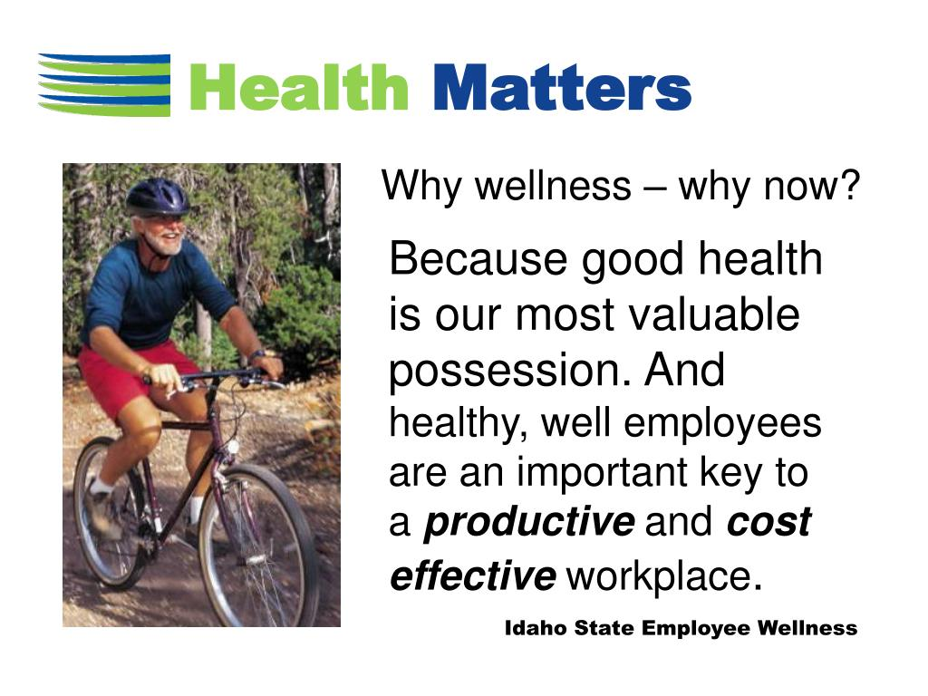 Why wellness – why now?
