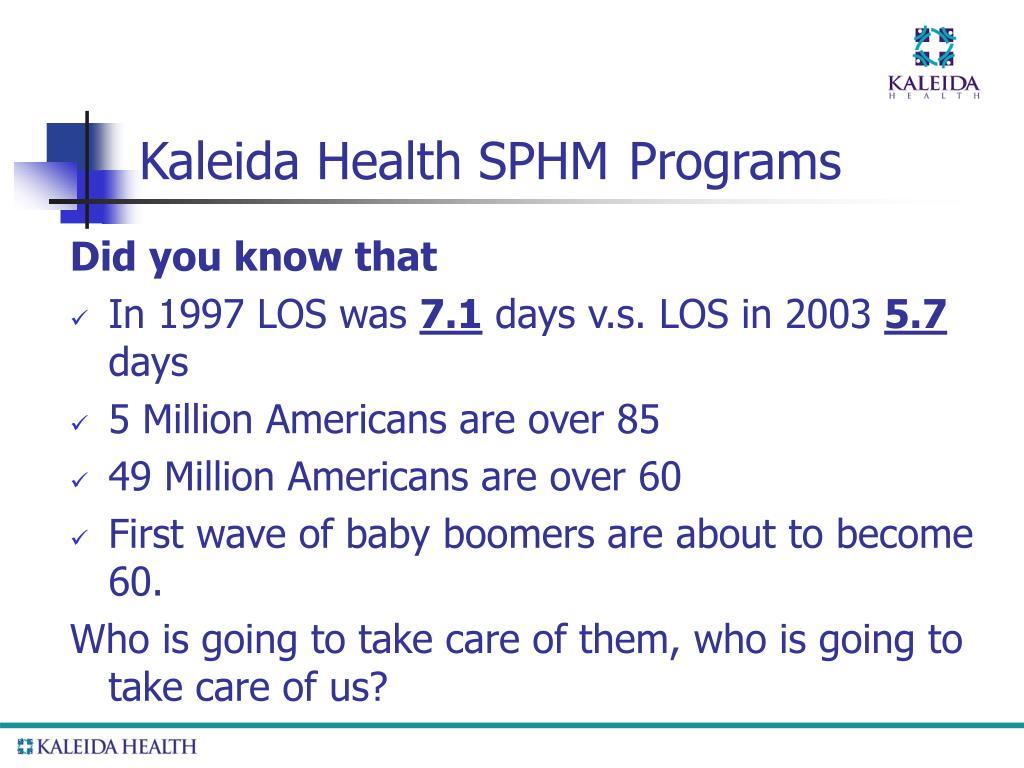 Kaleida Health SPHM