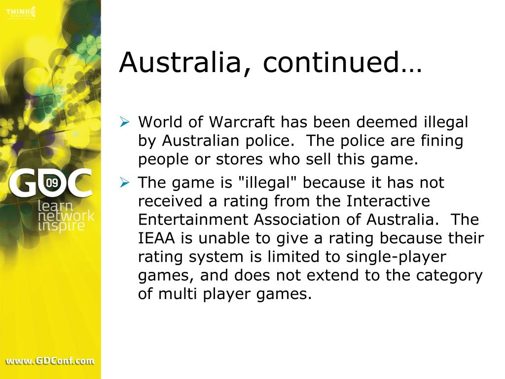 Australia, continued…