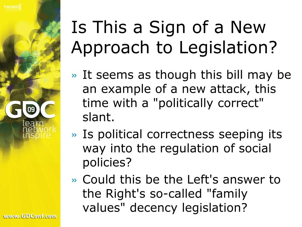 Is This a Sign of a New Approach to Legislation?