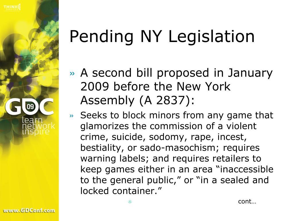 Pending NY Legislation