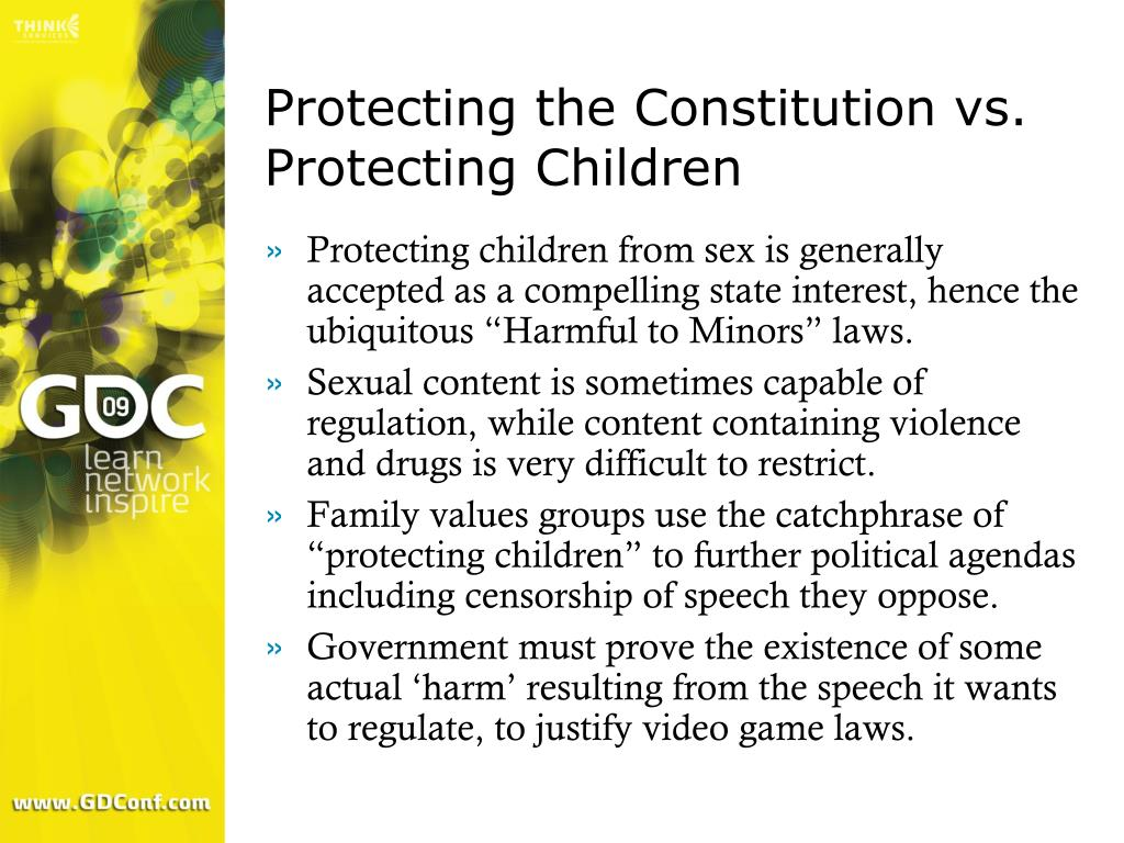 Protecting the Constitution vs. Protecting Children