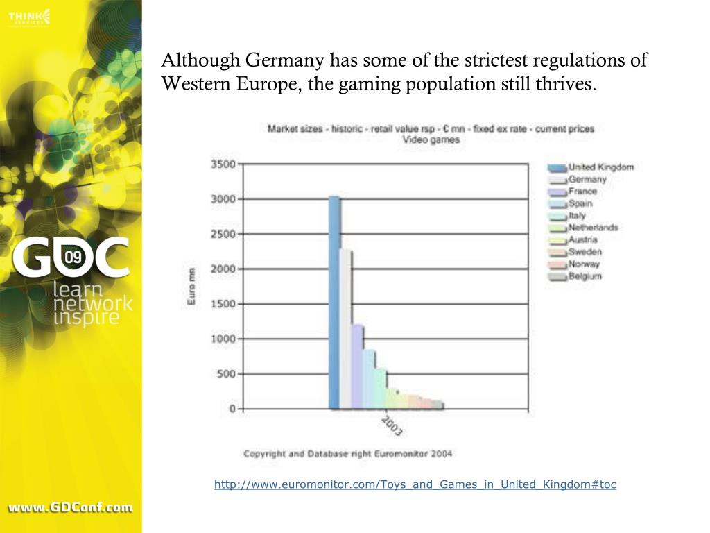 Although Germany has some of the strictest regulations of Western Europe, the gaming population still thrives.