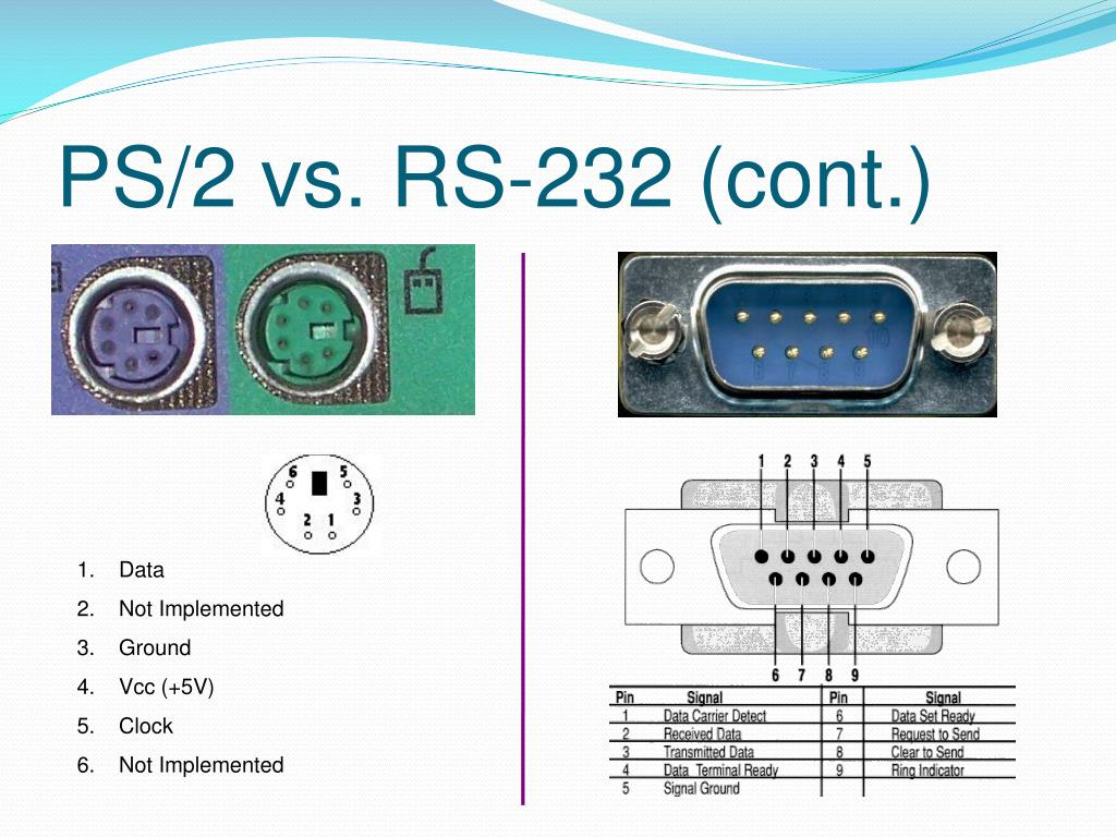 PS/2 vs. RS-232 (cont.)