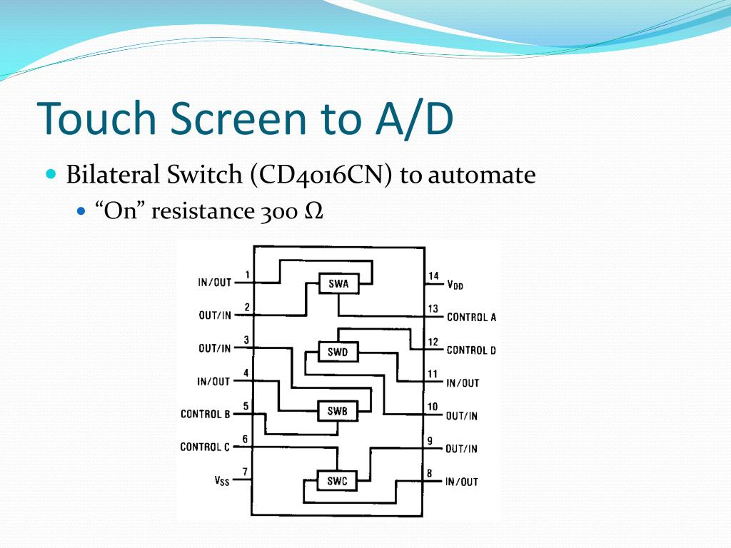 Touch Screen to A/D