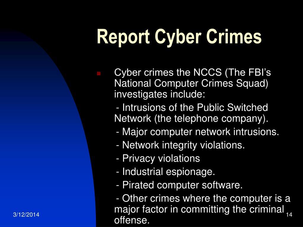 Report Cyber Crimes