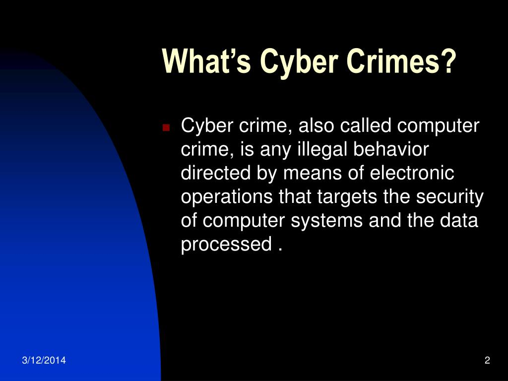 What's Cyber Crimes?
