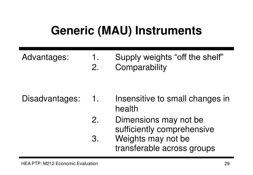 Generic (MAU) Instruments