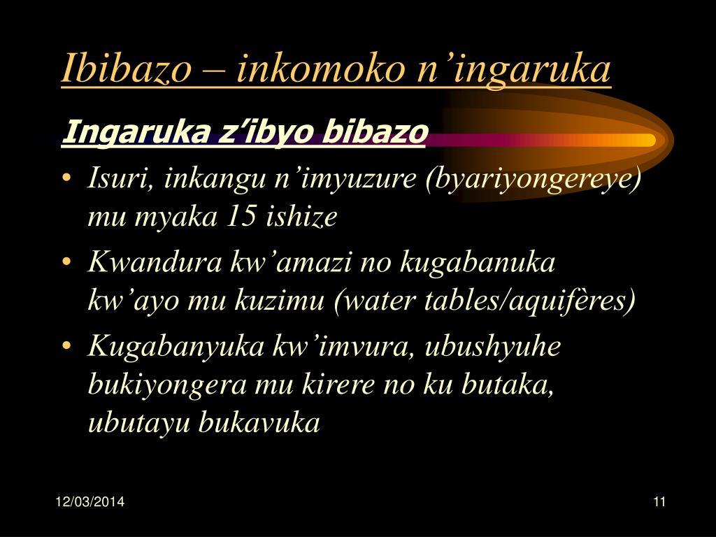 Ibibazo