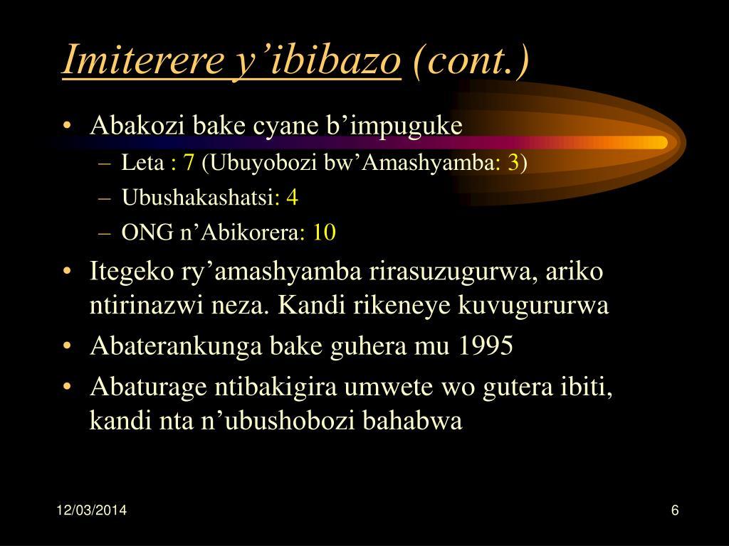 Imiterere y'ibibazo