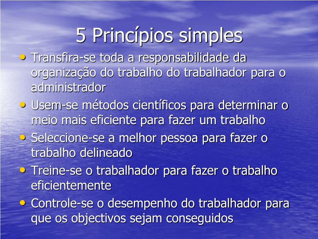 5 Princípios simples