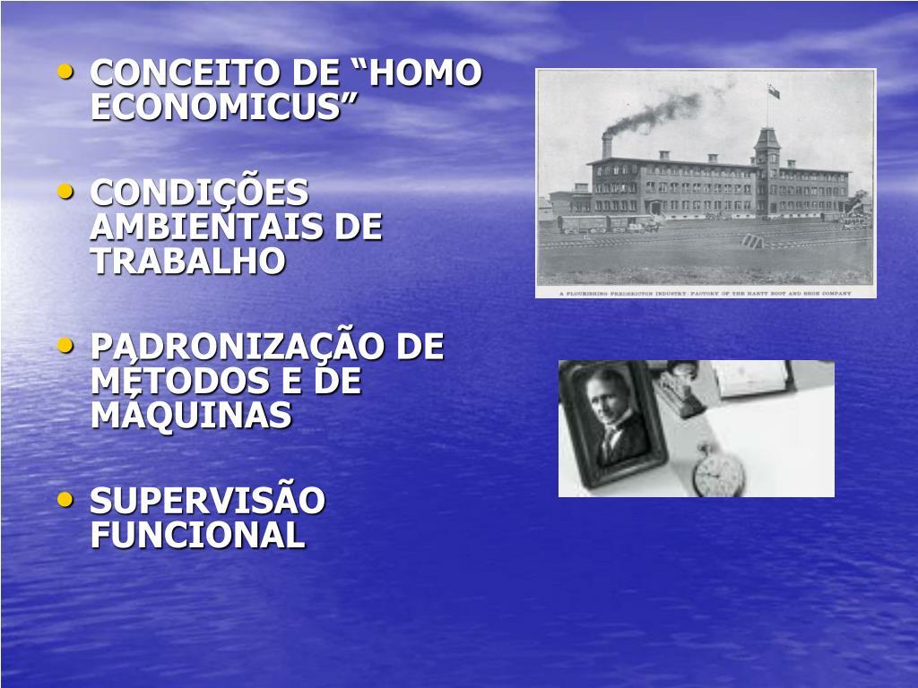 """CONCEITO DE """"HOMO ECONOMICUS"""""""