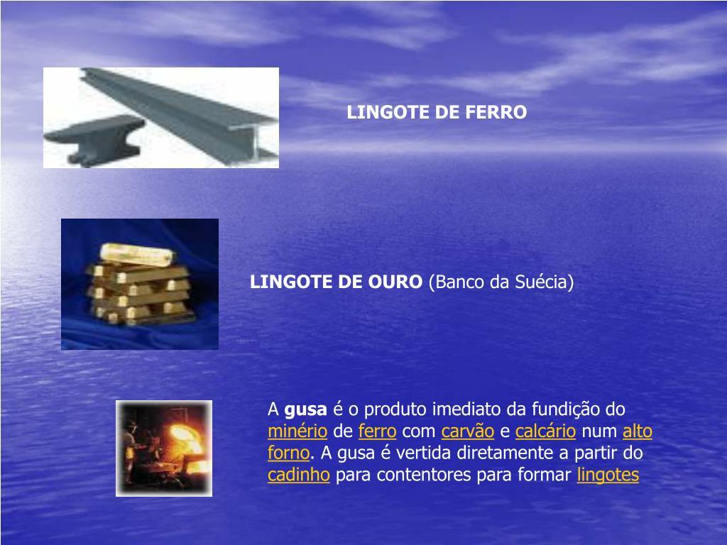 LINGOTE DE FERRO