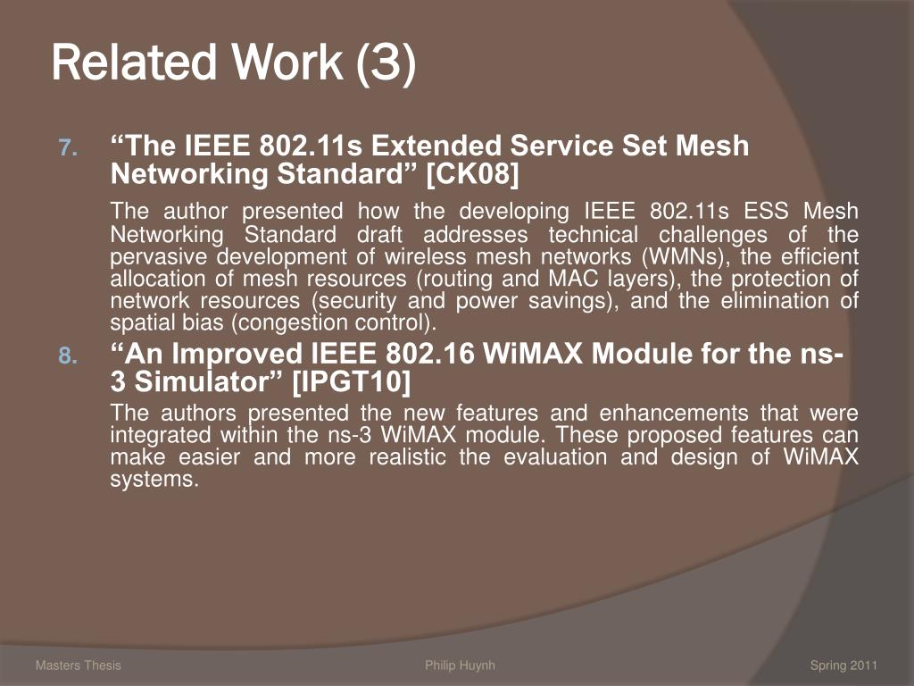 thesis on wimax security Preformace study of wimax network security - security network - ali raheem - research paper (postgraduate) - computer science - it-security - publish your bachelor's or master's thesis, dissertation, term paper or essay.