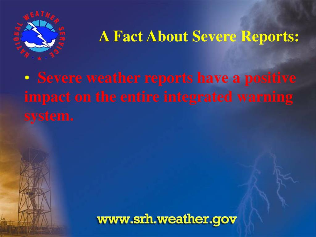 A Fact About Severe Reports:
