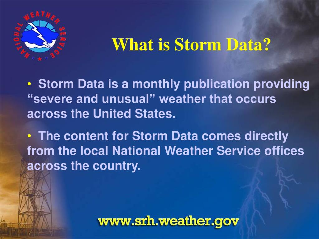 What is Storm Data?