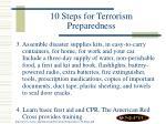 10 steps for terrorism preparedness40