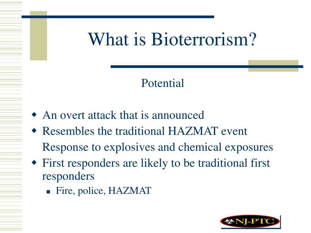 What is Bioterrorism?
