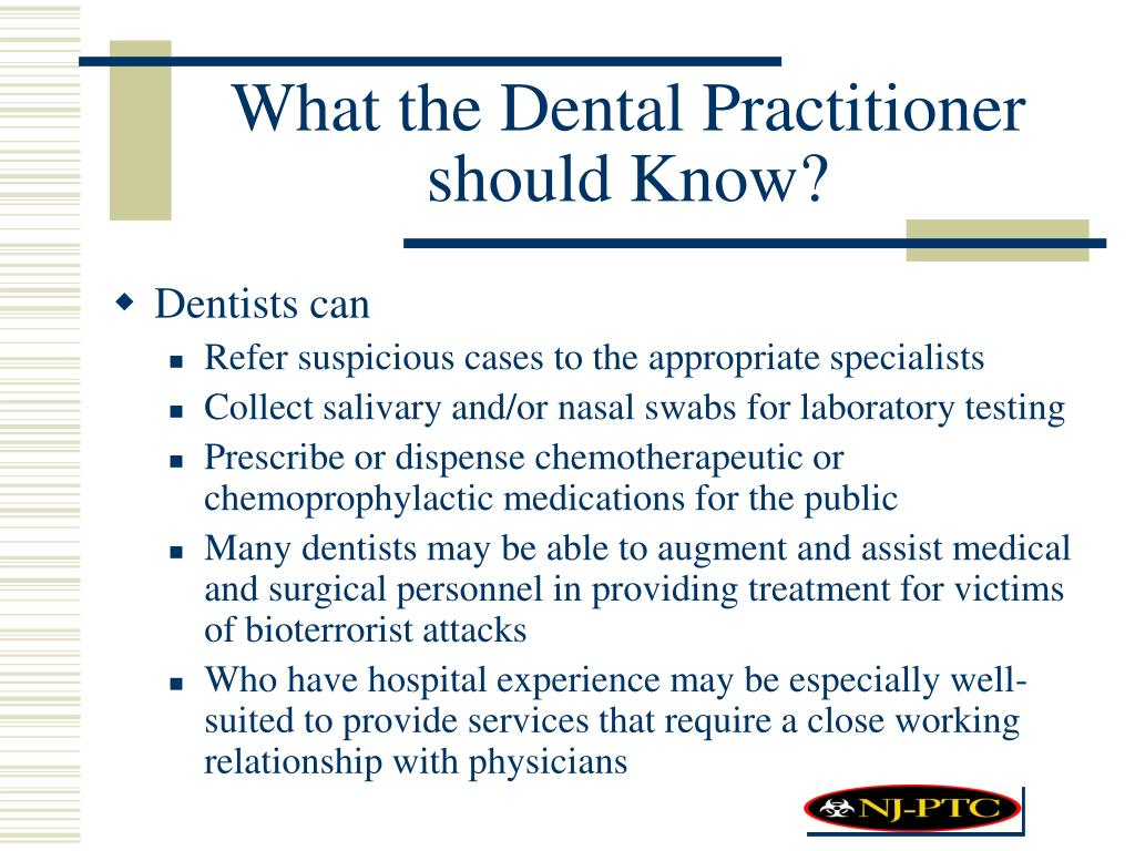 What the Dental Practitioner should Know?