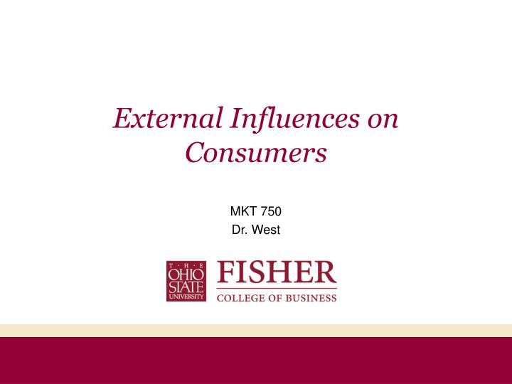 External influences on consumers l.jpg